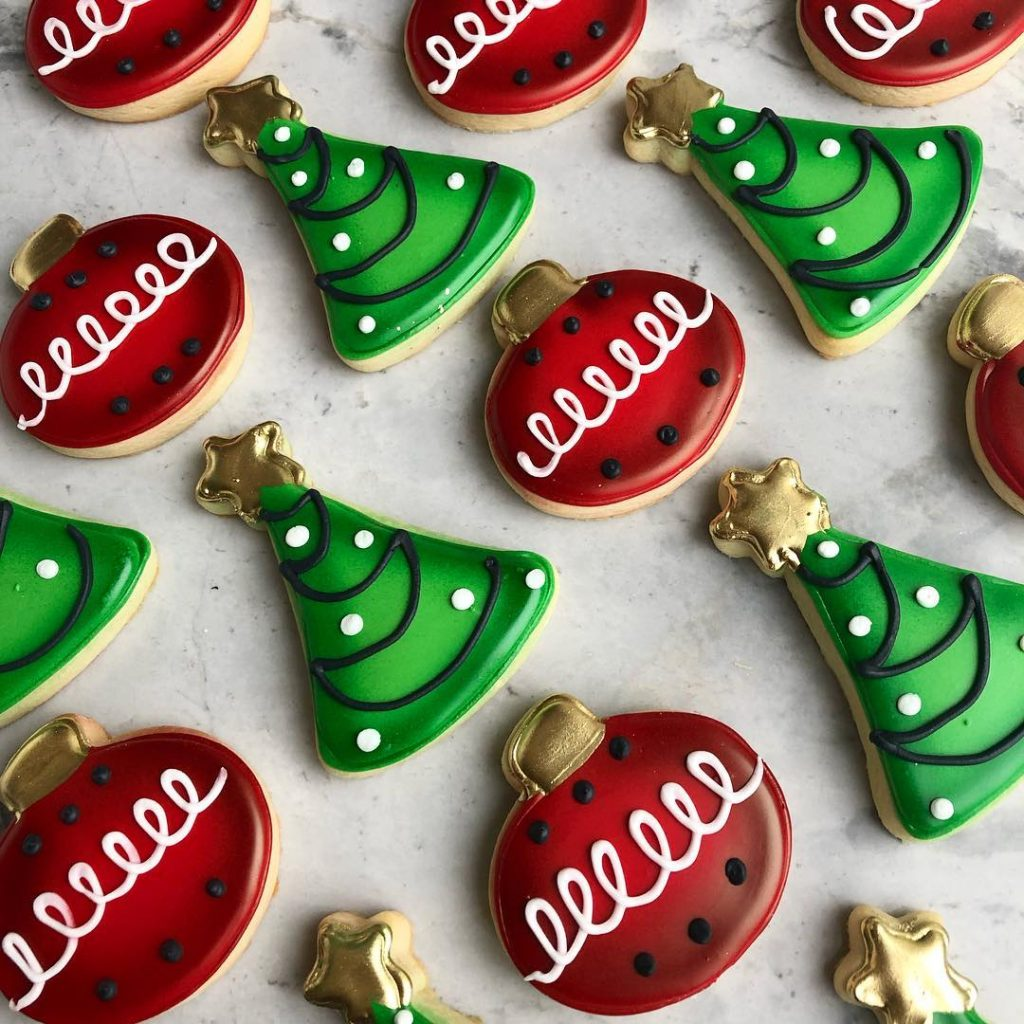 christmas sugar cookies by little rose cookie