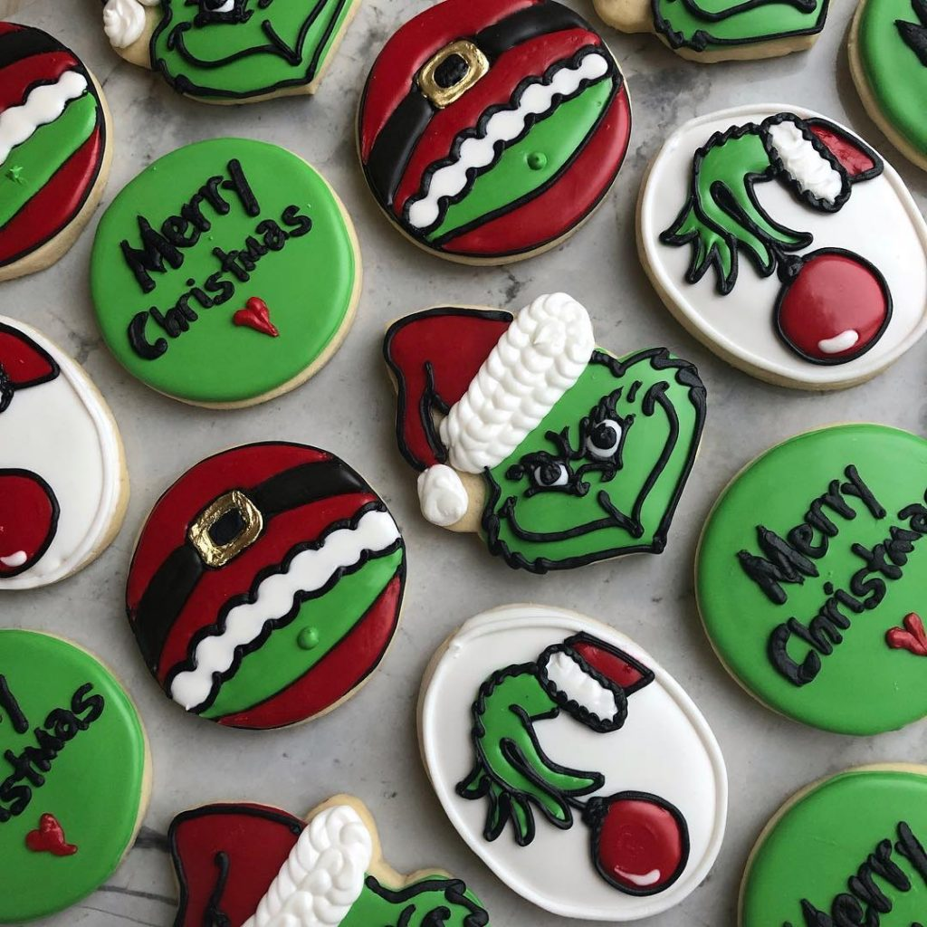 christmas the grinch sugar cookies by little rose cookie